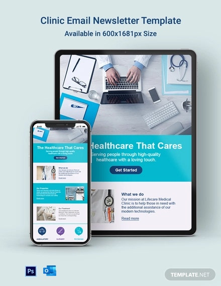 Clinic Email Newsletter Template