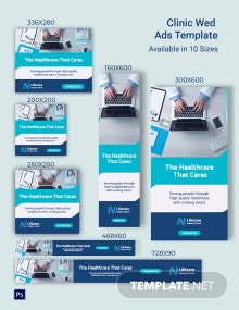 Clinic Web Ads Template