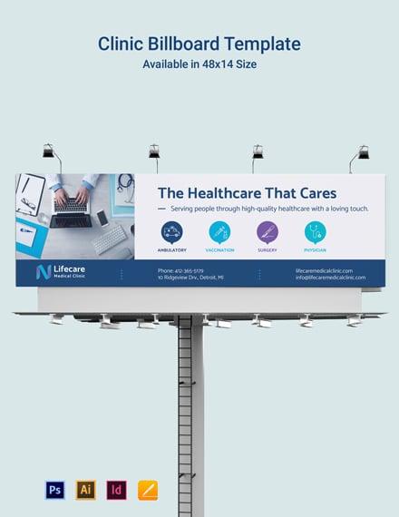 Free Clinic Billboard Template