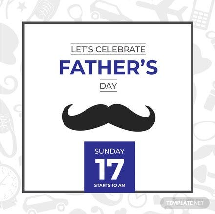 Free Father's Day Instagram Post Template