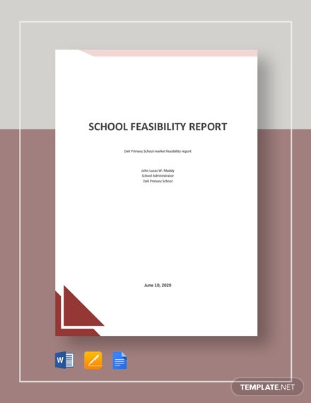 School Feasibility Report Template