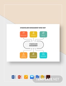 Stakeholder Management Mind Map Template