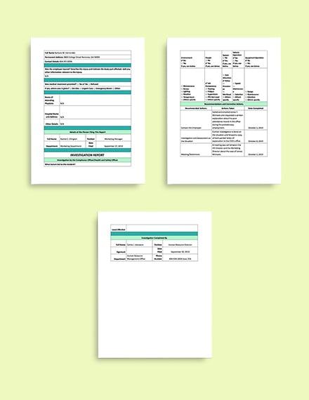 Contractor Incident Report Template Incident Report format