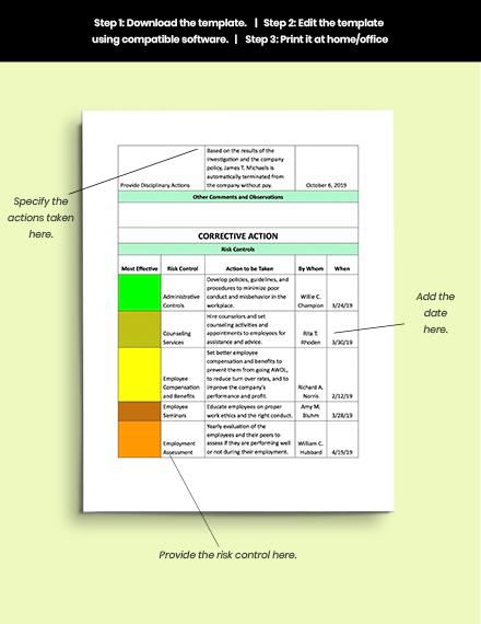 Contractor Incident Report Template Incident Report sample