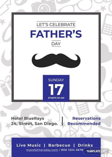 Father's Day Invitation Template