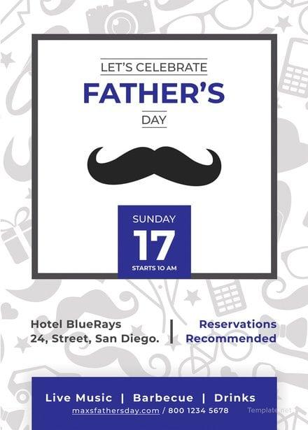 Free Father's Day Invitation Template