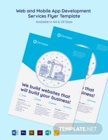 Web and Mobile App Development Services Flyer Template