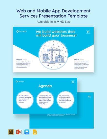 Web and Mobile App Development Services Presentation Template