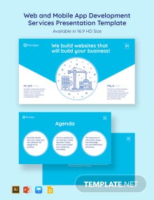Web and Mobile App Development Services Presentation Template