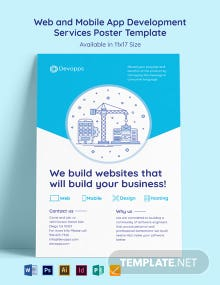 Web and Mobile App Development Services Poster Template