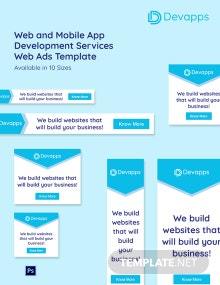 Web and Mobile App Development Services Web Ads Template