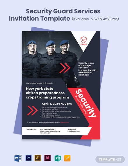 Security Guard Services Invitation Template
