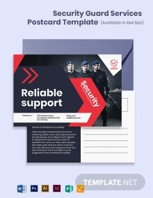 Security Guard Services Postcard Template