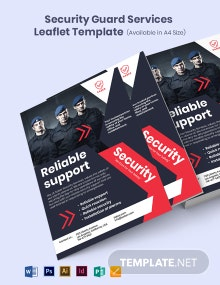 Security Guard Services Leaflet Template