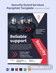 Security Guard Services Pamphlet Template