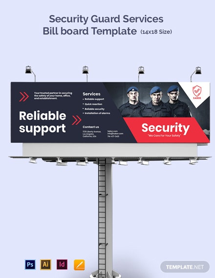 Security Guard Services Billboard Template