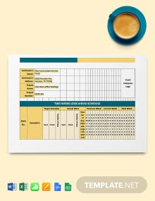 Construction Look Ahead Schedule Template