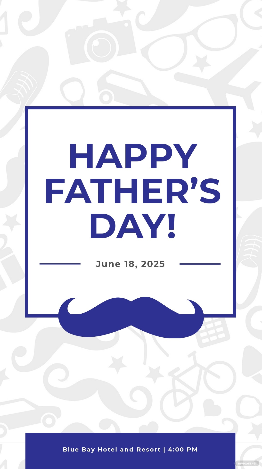 Father's Day Snapchat Geofilter Template