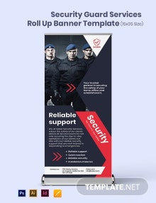 Security Guard Services Roll Up Banner Template