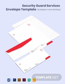 Security Guard Services Envelope Template