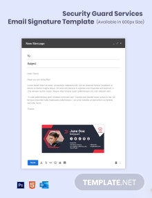 Security Guard Services Email Signature Template