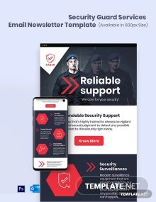 Security Guard Services Email Newsletter Template