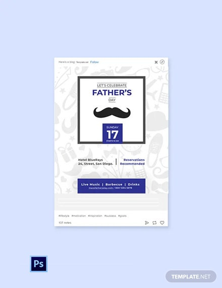 Free Father's Day Tumblr Post