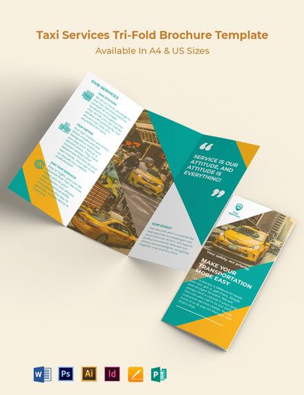 Taxi Services Tri-fold Brochure Template