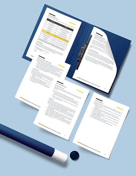 Printable Construction Quality Management Plan