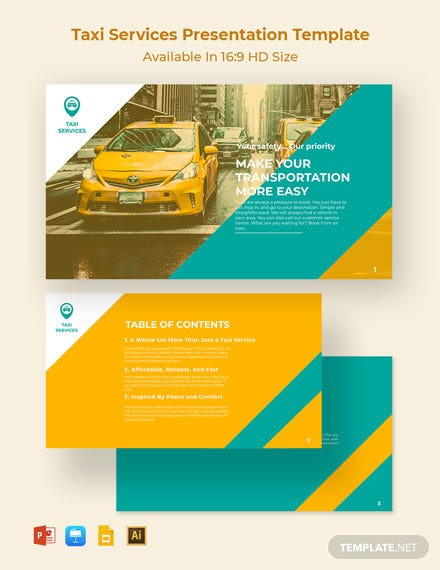 Taxi Services Presentation Template
