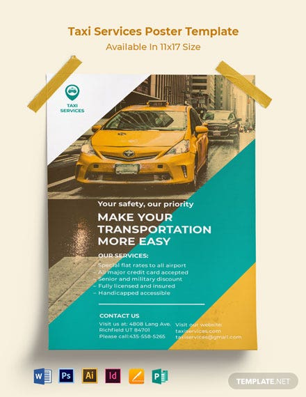 Taxi Services Poster Template