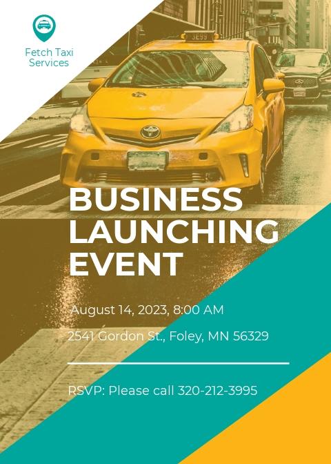 Taxi Services Invitation Template