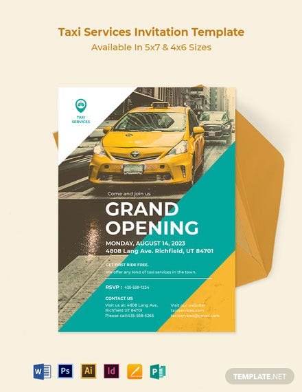 Taxi Services Invitation Template