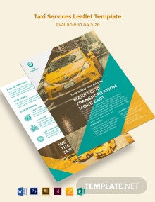 Taxi Services Leaflet Template