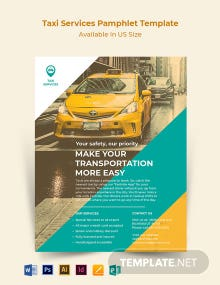 Taxi Services Pamphlet Template
