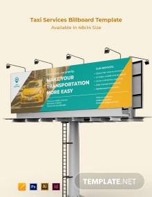 Taxi Services Billboard Template