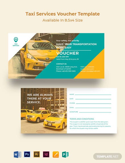 Taxi Services Voucher Template