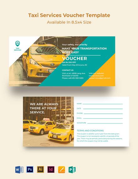 Taxi Services Voucher Template
