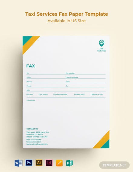 Taxi Services Fax Paper Template