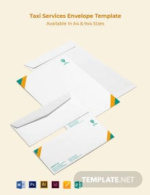 Taxi Services Envelope Template