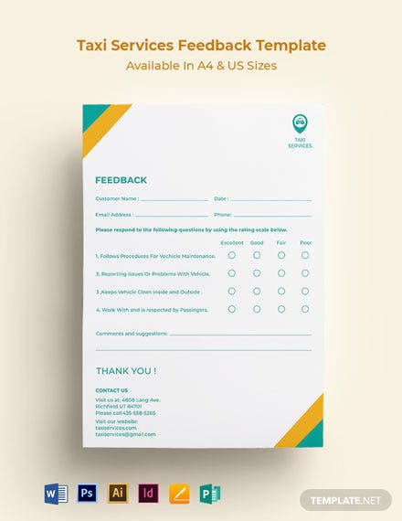 Taxi Services Feedback Form Template