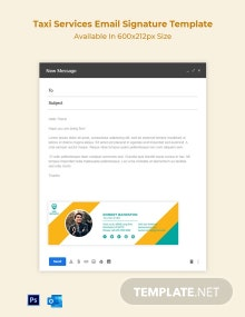 Taxi Services Email Signature Template