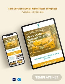 Taxi Services Email Newsletter Template