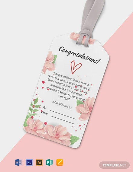 Free Floral Gift Tag Template