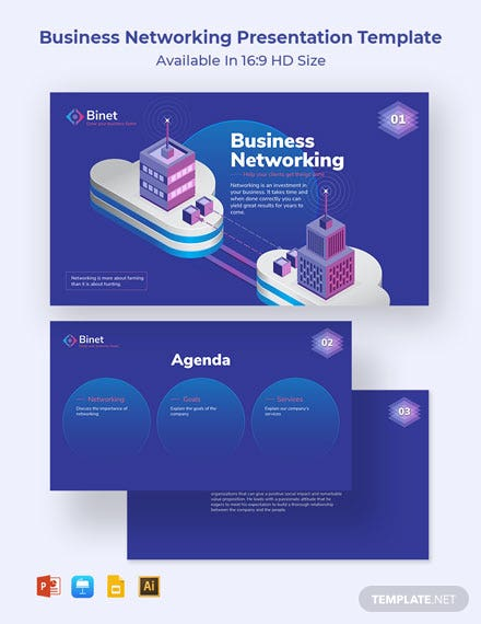 Business Networking Presentation Template