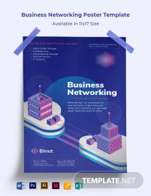 Business Networking Poster Template