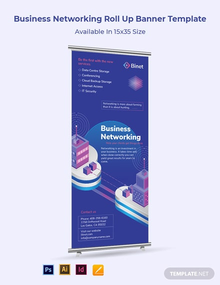 Business Networking Roll Up Banner Template
