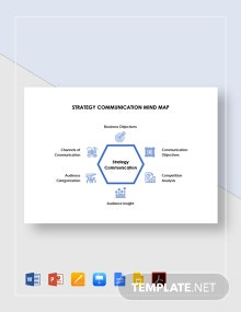Strategy Communication Mind Map Template