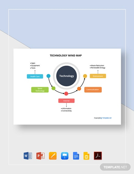 Free Simple Technology Mind Map Template
