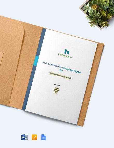 HR Consultant Report Template